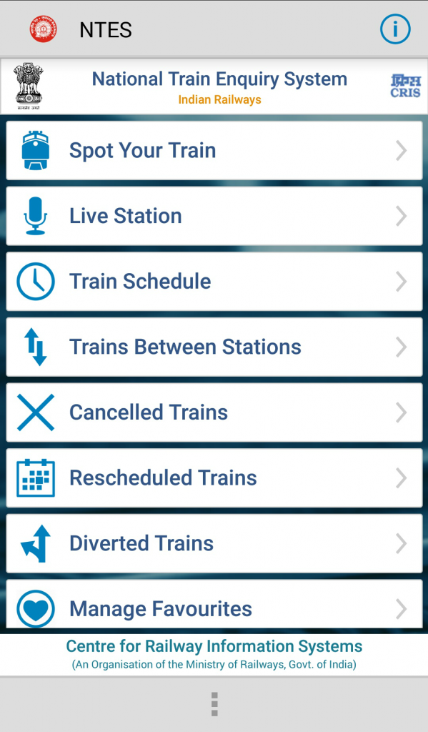 National Train Enquiry System App