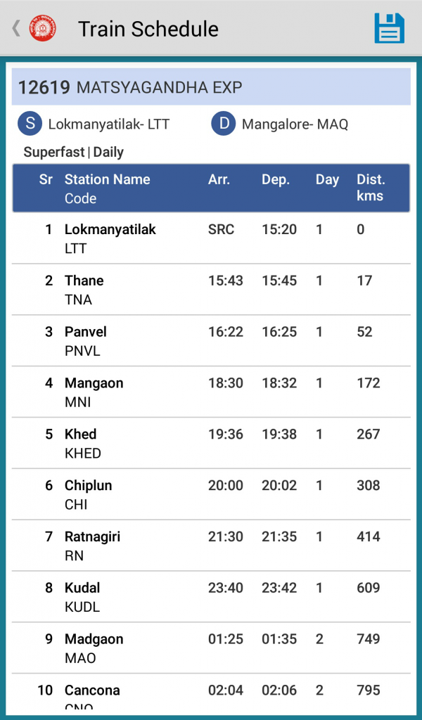 Train Schedule National Train Enquiry System